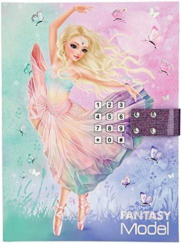 Depesche 11052 Tagebuch mit Code und Sound, Fantasy Model Ballett, rosa, ca. 20,5 x 15 x 3 cm