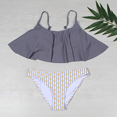 Bikini Knicke Bademode Dame Tanga Badeanzug Badeanzug 2018 Grau ...