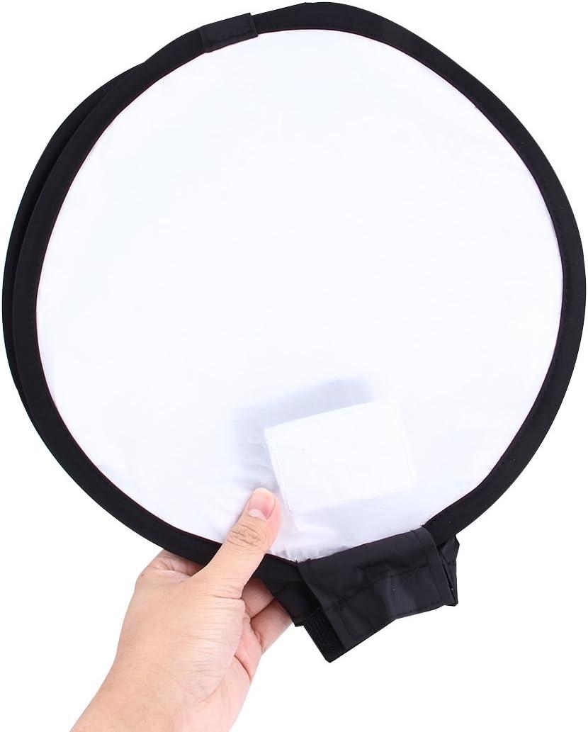 Black + White Without Flash Light Holder Aosituop Softbox 30cm Universal Round Style Flash Folding Soft Box