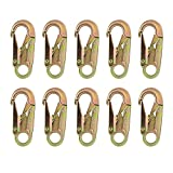 Fusion Climb Maxi-2 Forged Carbon Steel Snap Hook Gold 10-Pack