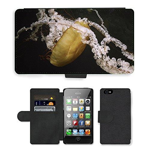 PU Leather Cover Custodia per // M00421558 Jellyfish Nature Zoo animaux de la // Apple iPhone 4 4S 4G