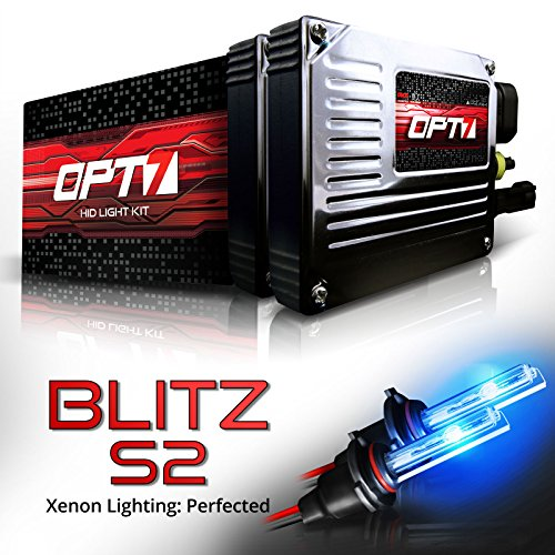 Deep System Reflector - OPT7 Blitz S2 H10 9140 9145 HID Kit - 3.5X Brighter - 4X Longer Life - All Bulb Sizes and Colors - 2 Yr Warranty [10000K Deep Blue Xenon Light]