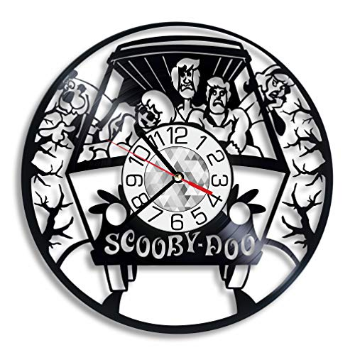 Scooby-Doo Vinyl Record Clock, Scooby-Doo Room Home Nursery Decor Wall Art Party Supplies Theme Stuff Birthday Accessory Handmade Decoration Item]()