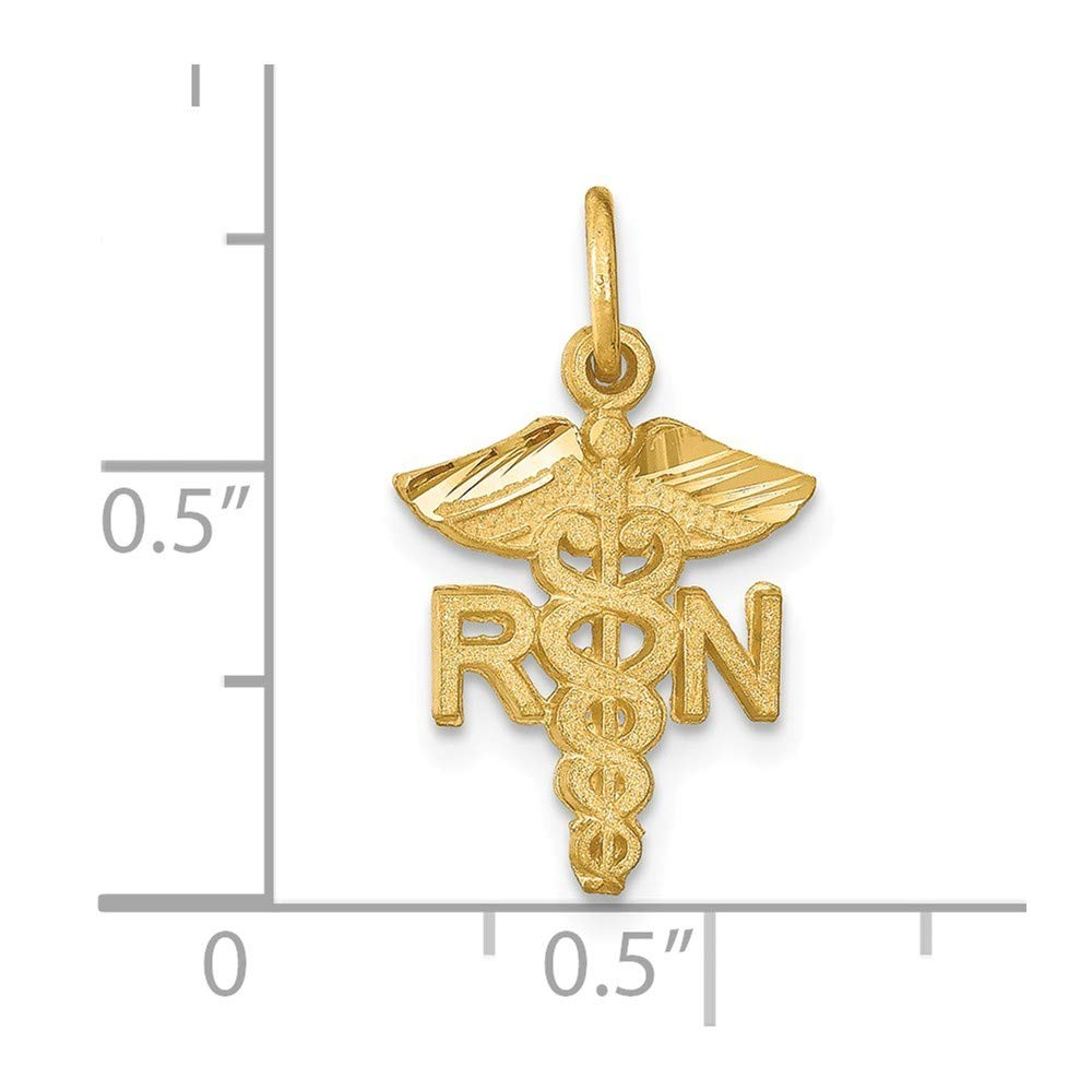14K Yellow Gold Nurse Charm Pendant from Roy Rose Jewelry