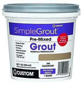 Custom PMG180QT 1-Quart Simple Premium Grout, Sandstone