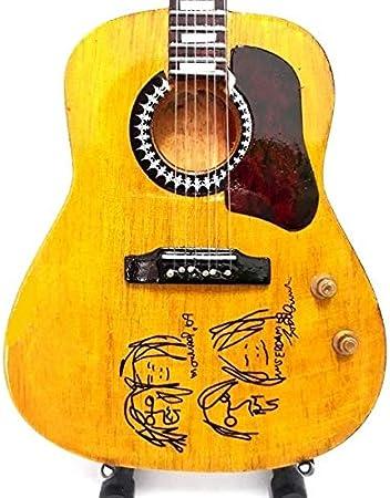 Mini ACÚSTICO Guitarra BEATLES JOHN LENNON Dibujo Figurilla ...