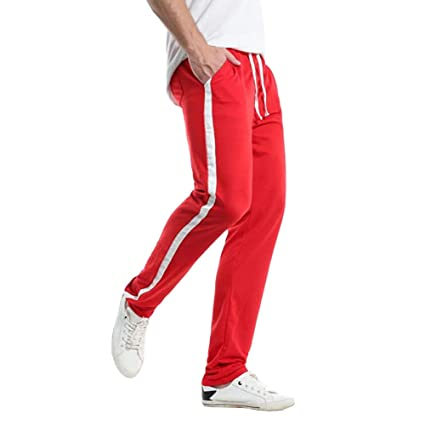 e7bdc80078a9d7 Ankola Sport Pants Women s Drawstring Waist Striped Side Jogger Sweatpants  with Pockets (M