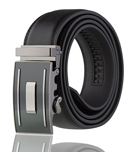Men's Imperial Ratchet Leather Dress Belt (Gray w/ silver buckle) ()