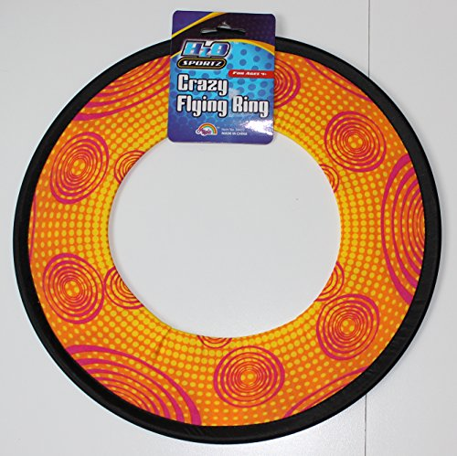 Soak N' Fling 12-inch Crazy Flying Ring Disc (Yellow)