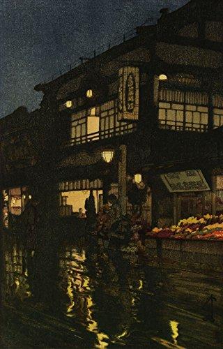 (Japanese Art Print - Kagurazaka Dori by Yoshida Hiroshi (11