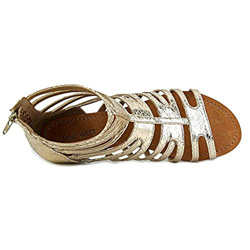 Nine West Womens sunraysol1 Open Toe Casual Slide Sandals Gold Fb etRDBZJx46