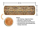Pillowcase - Ultra Soft Short Plush Cover |Wood Log - Gingko Tree...