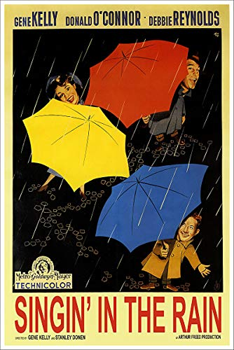 American Gift Services - Singin' in The Rain Vintage Gene Kelly Movie Poster - 24x36 (Kelly Movie Poster)