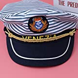 Amosfun Captain Hat Navy Marine Admiral Hat