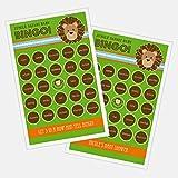 3 sets of 16 Jungle Safari Bingo