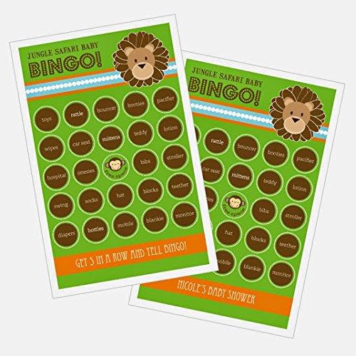 3 sets of 16 Jungle Safari Bingo by Eventblossom