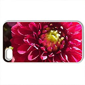 Ant in flower. - Case Cover for iPhone 4 and 4s (Flowers Series, Watercolor style, White)