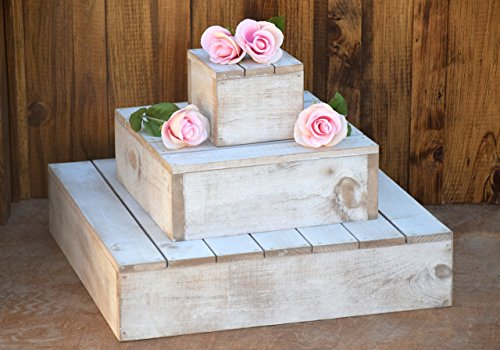 Distressed Wooden 3 Tier Cupcake Tower Stand - Wedding Cake Stand - Cupcake Stand - Cupcake Tower - Wooden Wedding Cake Stand