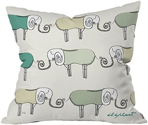 Deny Designs Brian Buckley Les Elephants Throw Pillow, 26 x 26