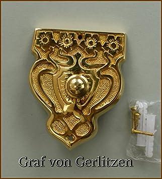 Graf von Gerlitzen Antik Messing T/ür Klingel 1 T/ürklingel Klingelschild Klingelplatte Jugendstil K72P
