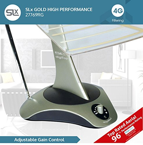 SLx Indoor TV Aerial, 27769RG Digital TV High Performance Indoor Aerial for HD TV Freeview, FM Radio, DAB Radio, Wideband