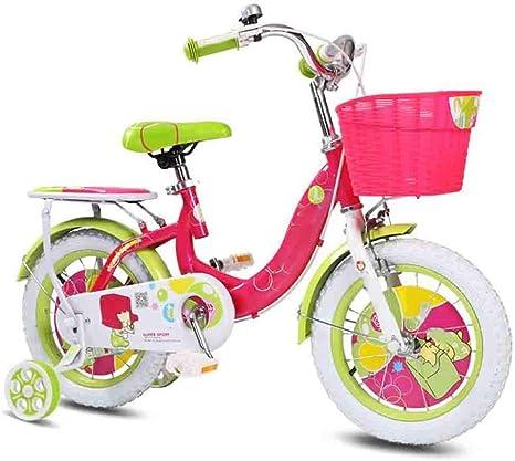 YUMEIGE Bicicletas Infantiles Bicicletas para niños, Bicicleta para niños con Rueda de Entrenamiento 12/14/16 / 18Ciclo de niño y niña de Inch, Adecuado para niños ...