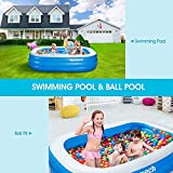 """Homech Family Inflatable Swimming Pool, 93"""" X 55"""" X"""