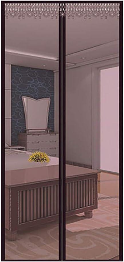 Mosquitera Para Puertas De Terraza Cortina MagnéTica,Antimosquitos Sala Estar La Del Balcón Corredera Patio,Barco De Pesca,Garaje,Brown,110x225cm(43x89inch): Amazon.es: Bricolaje y herramientas