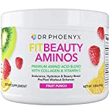 Dr. Phoenyx FitBeauty Amino Acid Blend with Collagen & Vitamin C - Hydration Boost, Healthy Metabolism, Healthy Skin - Keto Friendly Drink Mix - Fruit Punch, 30 Servings