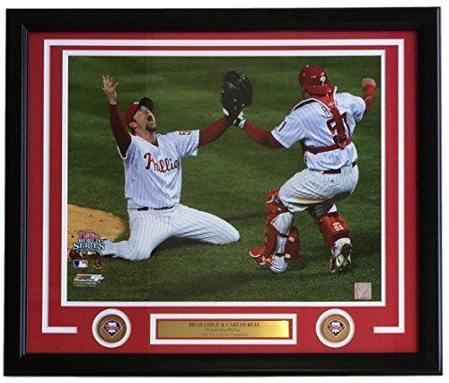 Brad Lidge Carlos Ruiz Framed 16x20 2008 Phillies World Series Licensed Photo