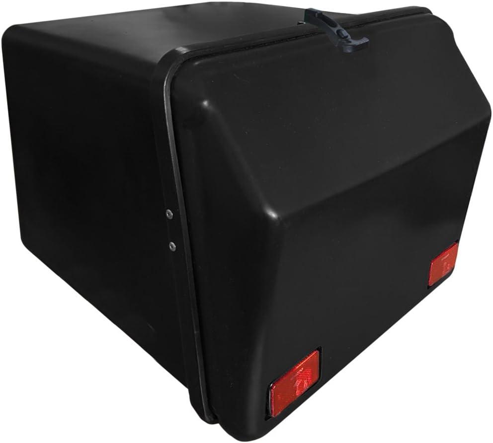 Portaequipajes Moto baúl Reparto Negro/Negro con Reflectantes homologados