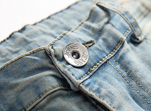 OBT Big Boy's Vintage Ripped Skinny Destroyed Stretch Slim Distressed Jeans Pants 14 by OBT (Image #3)