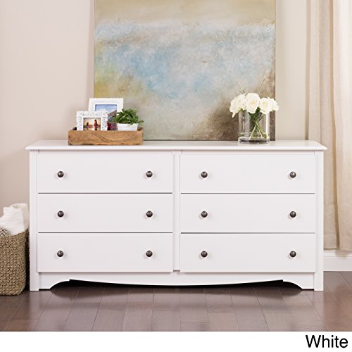 Monterey 6-Drawer Dresser (White)