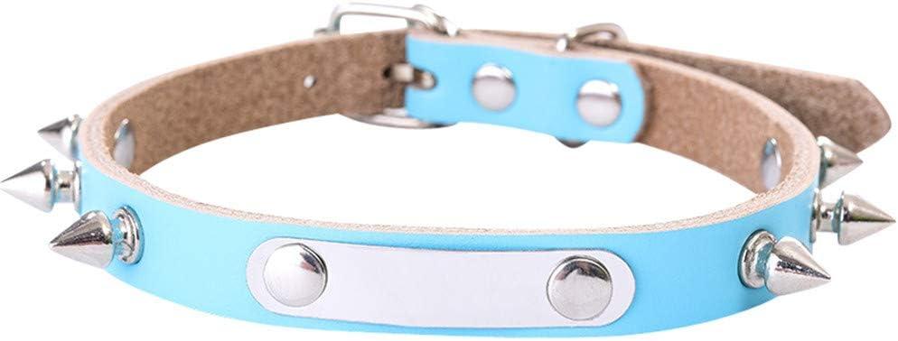 GUOCU 10 Pieza Collar de Perro Cómodo y Duradero para Perros Grandes o Pequeños, Ajustable y con Relleno Impermeable,Cielo Azul (10 Piezas),L