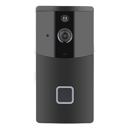 d3646804319b7 Wireless WiFi Smart Doorbell Video Camera Phone Ring Intercom Night Vision  Home Build Security (Black)