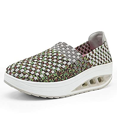 5328806052d80 Amazon.com | Exing Womens's Shoes Slip On Summer Shoes Mesh ...