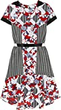 Peter Pilotto for Target Belted Dress -Red Floral/Check Print