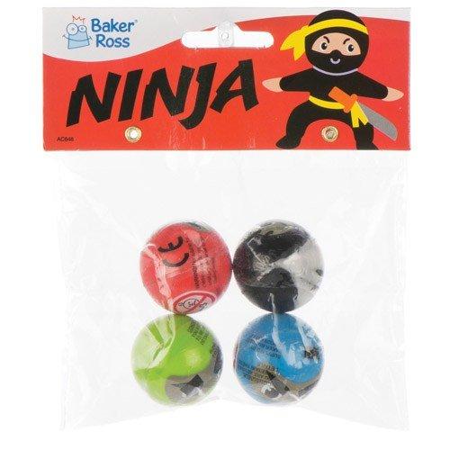 for Kids Baker Ross Ninja Jet Bouncy Balls Pack of 8