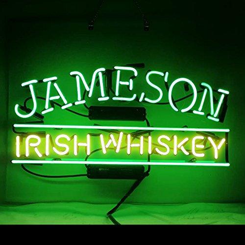 Jameson Irish Whiskey Beer Bar Pub Store Party Room Wall Windows Display Neon...