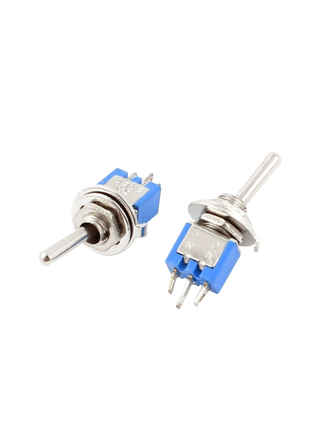 Panel Mount 9Pcs AC 125V 3A On-On SPDT Locking Toggle Switch 5 milímetros azul: Amazon.com: Industrial & Scientific