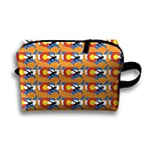 Bxsnd Usa Wrestling Unisex Oxford Cosmetic Bag Cute Travel Zipper Pouch Small Cosmetic Pouch