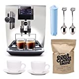 Jura 15142-JURA Impressa J90 Super Fully Automatic Espresso Machine (Chrome) Includes 2 Ceramic Cups, Jura Cartridge, Whole Bean Coffee and Demi Spoon
