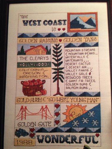 Sampler Counted Cross Stitch Leaflet - June Grigg Presents Mid-atlantic Sampler Leaflet 24