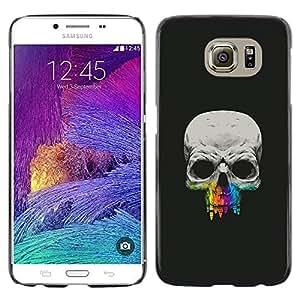 EJOY---Cubierta de la caja de protección la piel dura para el / Samsung Galaxy S6 / --Cráneo Diente Crayon