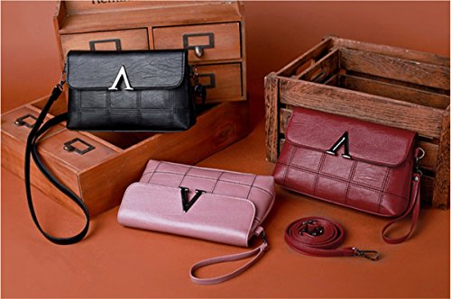Cute IKUN for JJ Small Bag Leather Phone Cross Handbags body Bags Shoulder Layer Cowhide Pink Women Evening Clutch Bags Top qww6rB