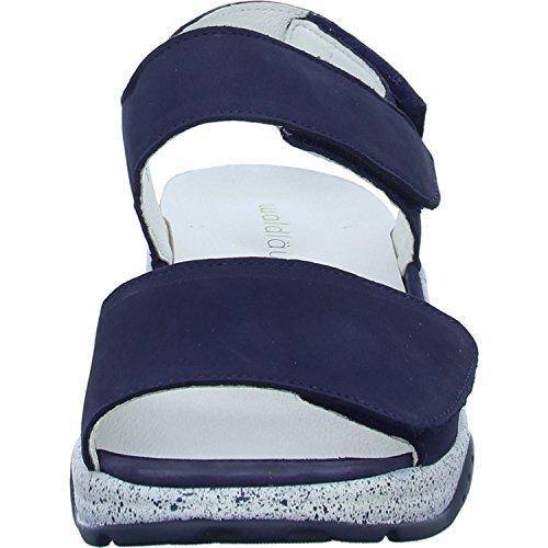 162 Bleu Waldläufer Bleu 200 Blue blue Femmes Sandalettes 936001 4q11YSOx
