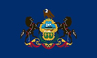 product image for Valley Forge Flag 5-Foot by 8-Foot Nylon Pennsylvania State Flag with Canvas Header and Grommets
