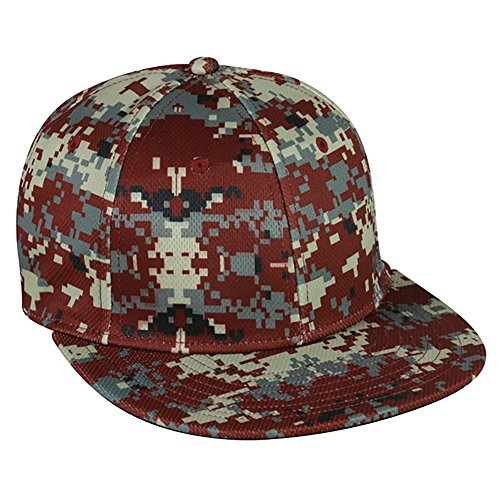 Camo Cap Fit Flex (Mws1025d Outdoor Cap Digital Camo Flex Fit Hat Maroon Medium/Large)
