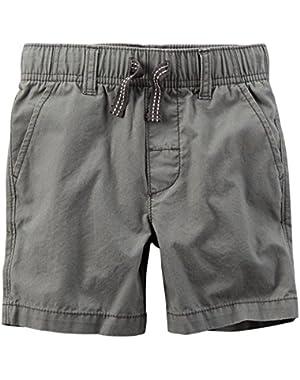 Carter's Boy's Grey Poplin Shorts (3 Months)