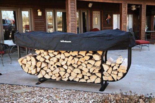 The Woodhaven Courtyard Firewood Log Rack by The Woodhaven